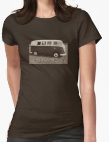Old School Sepia Womens Fitted T-Shirt