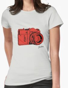 Red Russian Camera Womens Fitted T-Shirt