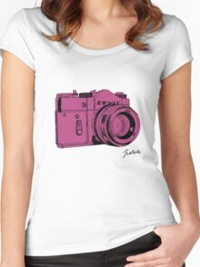 Pink Russian Camera Women's Fitted Scoop T-Shirt