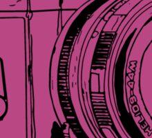 Pink Russian Camera Sticker