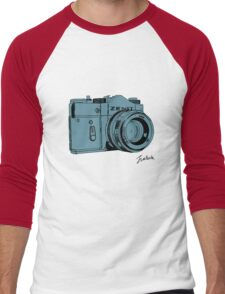 Blueish Russian Camera Men's Baseball ¾ T-Shirt