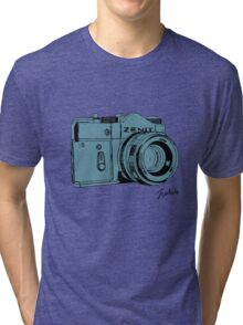 Blueish Russian Camera Tri-blend T-Shirt