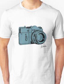 Blueish Russian Camera Unisex T-Shirt