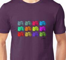 Multi colour Russian Cameras Unisex T-Shirt