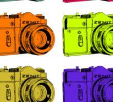 Multi colour Russian Cameras Sticker