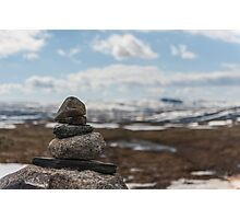 Hardangervidda rocks Photographic Print