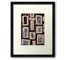 Where Some of the Bodies Are Hidden Framed Print
