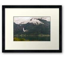 Majestic mountain in Sognefjorden Framed Print