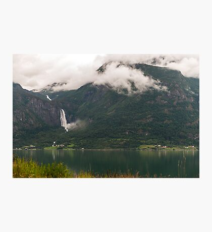 Majestic mountain in Sognefjorden Photographic Print