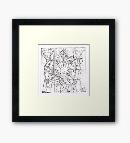Soul Forged of Steel and Fury Framed Print