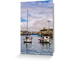 Newquay Harbour Greeting Card