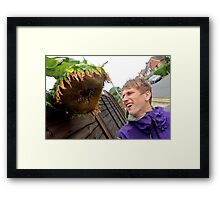 Attack of the Killer Sunflowers Framed Print