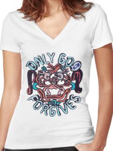 Only God Forgives Women's Fitted V-Neck T-Shirt
