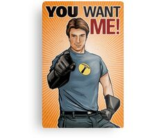 Captain Hammer - You Want Me Metal Print