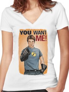 Captain Hammer - You Want Me Women's Fitted V-Neck T-Shirt