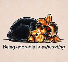 Yorkie Being Adorable is Exhausting by offleashart