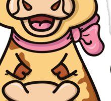funny cartoon cow Sticker