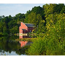 Mill Across Water Photographic Print
