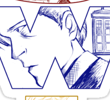 SuperWhoLock: Welcome Home Sticker
