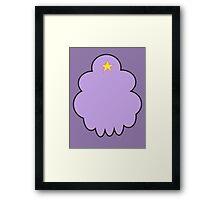 Minimalist Lumpy Space Princess Framed Print