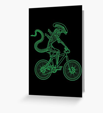 Alien Ride Greeting Card