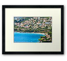 Plage du Golfe Bleu Framed Print