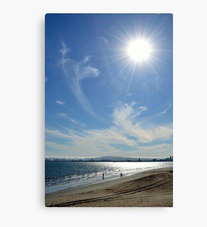 Sunny Beach Day Canvas Print
