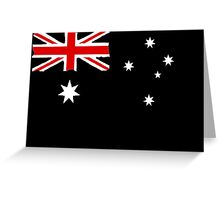 Australin Flag CARD/POSTER Black  Greeting Card