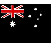 Australin Flag CARD/POSTER Black  Photographic Print