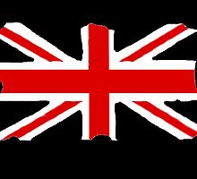 Union Jack on Black by Radwulf