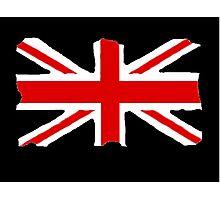 Union Jack on Black Photographic Print