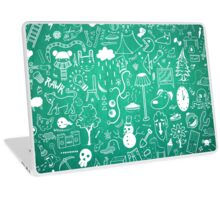 Winter Madness Blue Laptop Skin