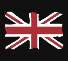 Union Jack on Black Kids Clothes