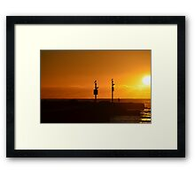 Lone fisherman Framed Print