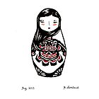 Inuit Matryoshka by Molly Lombard