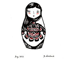 Inuit Matryoshka by Molly Lombard