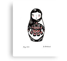 Inuit Matryoshka Canvas Print