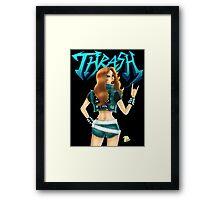Thrash Metal Chick  Framed Print