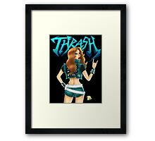 Thrash Metal Chick  Framed Print