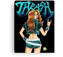Thrash Metal Chick  Canvas Print
