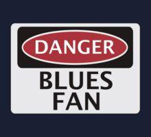 DANGER BLUES FAN FAKE FUNNY SAFETY SIGN SIGNAGE Kids Clothes