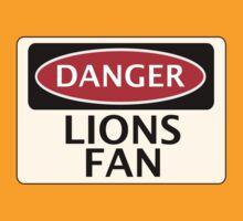 DANGER LIONS FAN FAKE FUNNY SAFETY SIGN SIGNAGE by DangerSigns