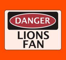 DANGER LIONS FAN FAKE FUNNY SAFETY SIGN SIGNAGE Kids Clothes