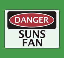 DANGER SUNS FAN FAKE FUNNY SAFETY SIGN SIGNAGE Kids Clothes
