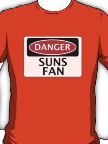 DANGER SUNS FAN FAKE FUNNY SAFETY SIGN SIGNAGE T-Shirt