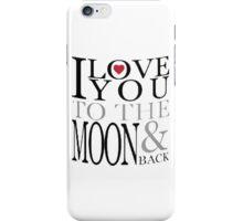I Love You Moon iPhone Case/Skin