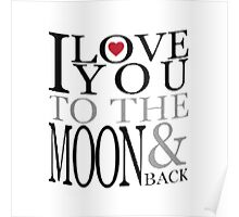 I Love You Moon Poster