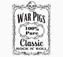 BOTTLE LABEL - WAR PIGS - solid black by sleepingmurder