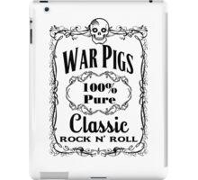 BOTTLE LABEL - WAR PIGS - solid black iPad Case/Skin