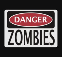 DANGER ZOMBIES FUNNY FAKE SAFETY SIGN SIGNAGE Kids Clothes